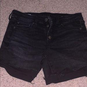 black jean shorts size 4